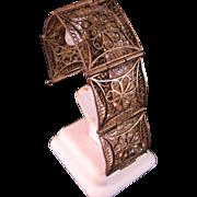 Brass Filigree Bracelet India 1940's