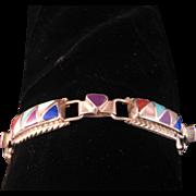 Vintage Zuni Inlay Bracelet