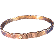 Vintage Taxco Sterling Silver Bangle - Red Tag Sale Item