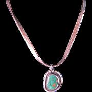 Vintage Navajo Royston Green Turquoise Necklace