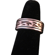 Sterling Silver Engraved Spinner Ring