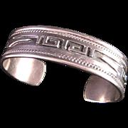 Vintage Taxco Sterling Silver Aztec Design Bracelet