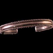 Vintage Tahe Sterling Silver Cuff Bracelet