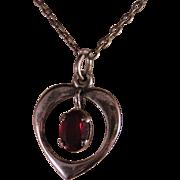 Vintage Garnet and Sterling Silver Necklace