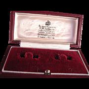 Vintage Garrard Crown Jewelers Display Boc