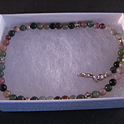 Sterling Silver Mixed Gemstone Bead Anklet