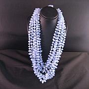 8 Strand Blue Chalcedony Necklace