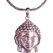 Vintage Sterling Silver Buddha Pendant and Chain