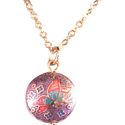 Vintage Cloisonne Pendant and Chain