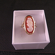 Vintage 14 K Gold Cameo Ring