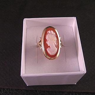 Vintage 14 K Gold Cameo Ring
