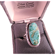 Vintage Southwest Turquoise and Sterling Silver Ring