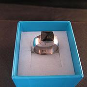 Sterling Silver Black Onyx Pyramid Ring