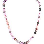 Vintage Gemstone and Sterling Silver Necklace