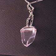 Vintage Sterling Silver Natural Crystal Pendant