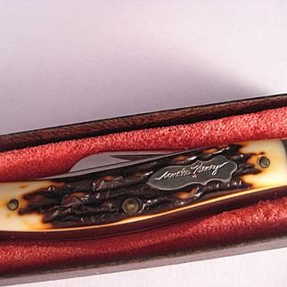 Vintage Made in USA Uncle Henry Schrade Stockman Pocket Knife