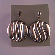 1980's Sterling Silver Designer Earrings