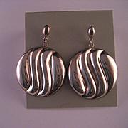 1980's Sterling Silver Designer Earrings