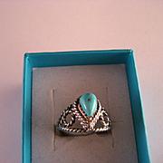 Vintage Southwest Turquoise Ring