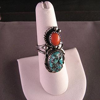 Vintage Southwest Navajo Sterling Silver Ring