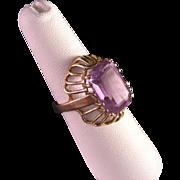 Vintage 18 K Yellow Gold 7.5 Carat Amethyst Ring