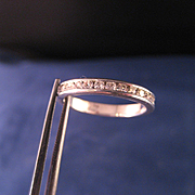 Vintage Channel set CZ and Sterling Silver Band