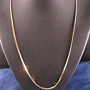 Vintage 14 K Yellow Gold Cobra Chain