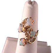 Vintage 14 K Gold and Opal Ring