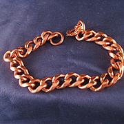 Vintage Heavy Weight Copper Link Bracelet
