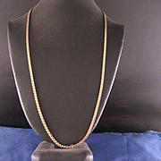 Vintage 14 K Yellow Gold Fill Serpentine Chain
