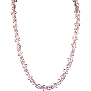 Vintage Handmade Sterling Silver Chain Necklace