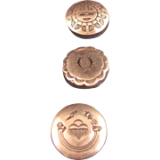 Vintage Sterling Silver Hand Stamped Navajo Buttons