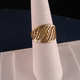18 K Gold wide Band