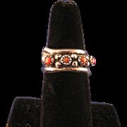 Vintage Southwest Zuni Sterling Silver Coral Ring
