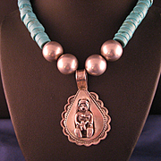 Mother of Creation Story Teller Sterling Silver Native American Necklace