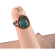 Vintage Child Sterling Silver Turquoise Southwest Ring