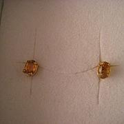 Yellow Sapphire 14 k Gold Earrings