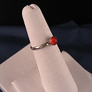 Vintage Sterling Silver and Carnelian Ring