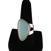 Vintage Sterling Silver Turquoise Large Bold Ring