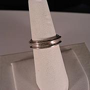 Vintage 80's Sterling Silver Spinner Ring