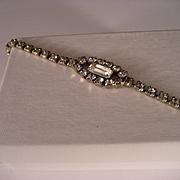 Vintage Rhinestone Bracelet 7 In.
