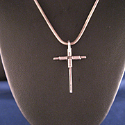 Vintage 1970's Cross and Sterling Chain
