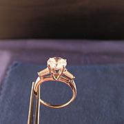 Vintage 14 K White Gold 1.90 Carat Cubic Zirconia Solitare  Ring