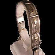 Vintage Sterling Silver 14 K Gold Navajo Link Bracelet