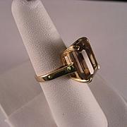 14 K yellow Gold 7.25 Carat Citrine Ring