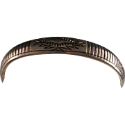 Vintage Navajo Engraved Sterling Silver Cuff Bracelet