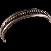 Vintage Sterling Silver Navajo Cuff Bracelet