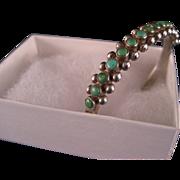 Vintage Harvey Era Turquoise Snake Eye Bracelet