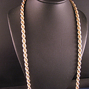 Vintage Estate 14 K Yellow Gold 5 mm Rope Twist Chain