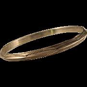 Vintage Navajo Sterling Silver Stamped Bangle Bracelet